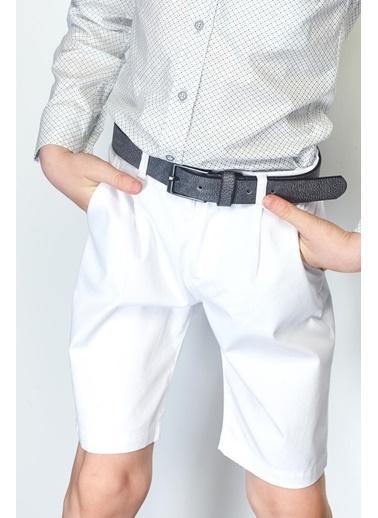 Nebbati Erkek Çocuk Beyaz Şort 19SS0NB3123 Beyaz
